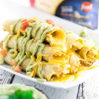 Cheesy Baked Chicken Taquitos