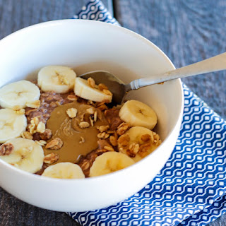 Chocolate Protein Sun Butter Oatmeal (Post Run Recovery)