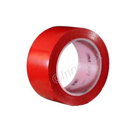 3M 471 Vinyltejp 50mm Röd (Linjemarkering mm.)