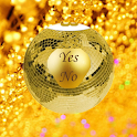 Gold Magic 8-Ball Yes/No icon