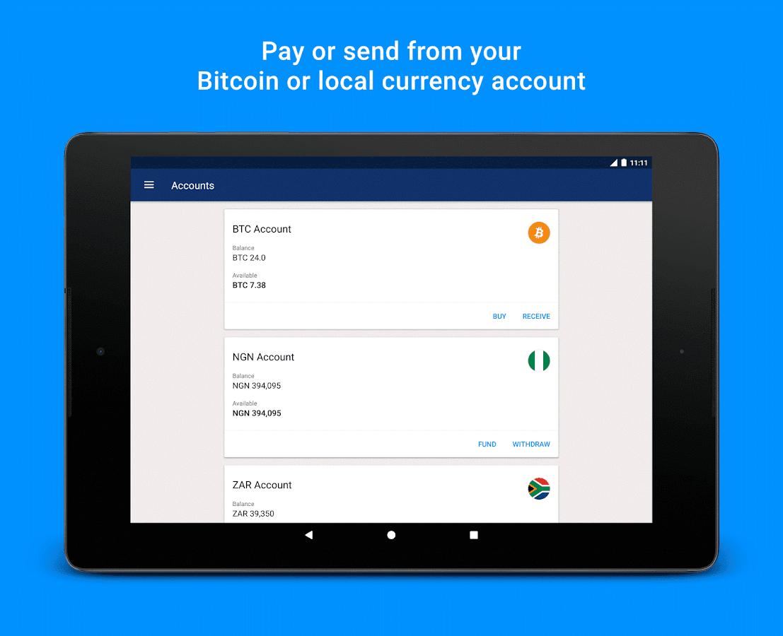 Luno Bitcoin Wallet Screenshot