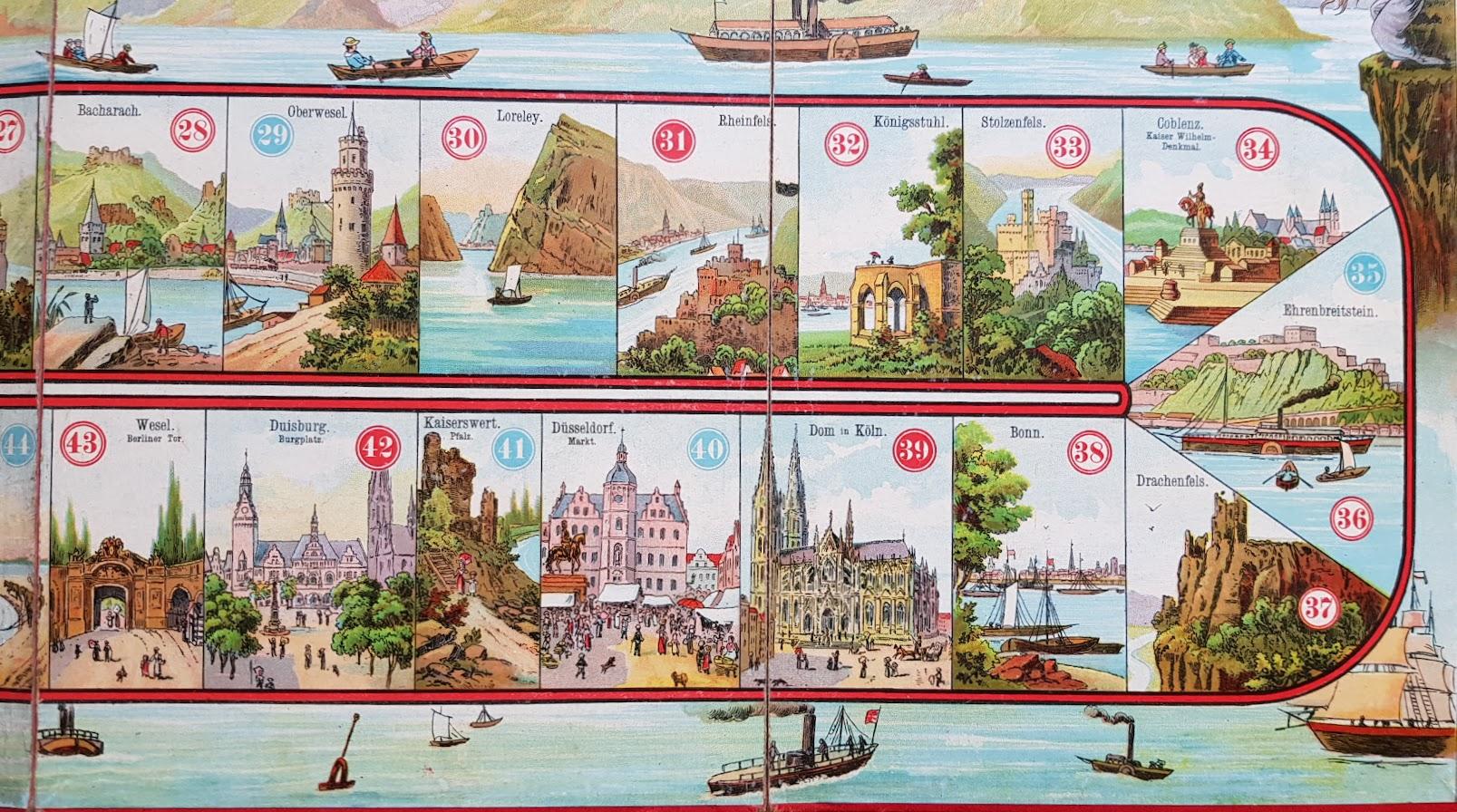 Reise auf dem Rhein - Spiel aus dem Spielebuch 'Wer spielt mit?'