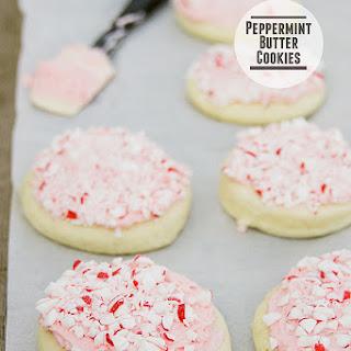 Peppermint Butter Cookies.