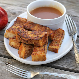 French Toast Sticks with Apple Syrup