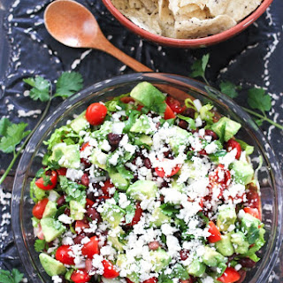 Healthy Mexican Layer Dip.