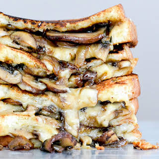 Mushroom, Onion and Stout Grilled Cheese Sandwiches.