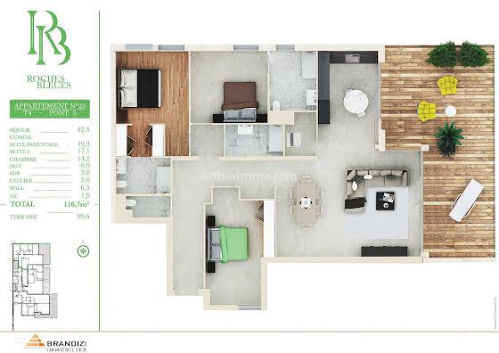 Vente appartement 4 pièces 116,7 m2