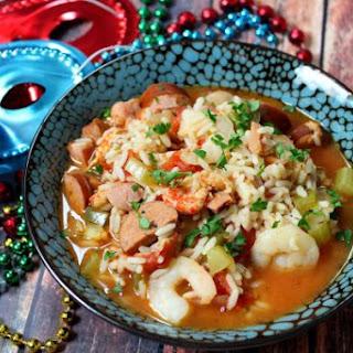 Slow Cooker Creole Jambalaya.