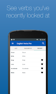 English Verb Conjugator Pro Screenshot