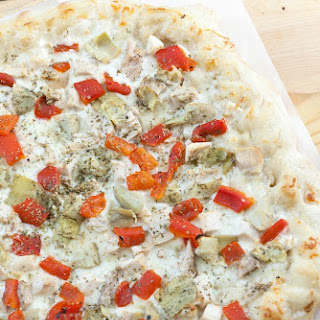 Chicken Ranch Pizza (Healthy, Low Calorie, Low Fat).