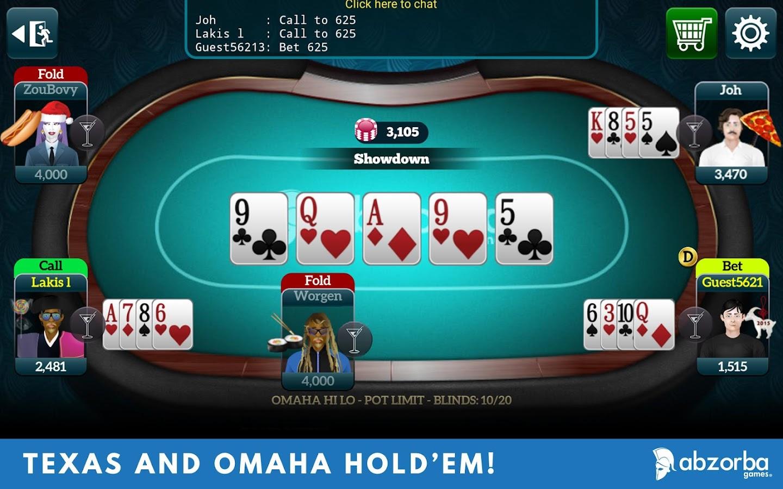 texas holdem live poker