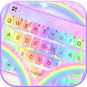 Galaxy Rainbow Keyboard Theme icon