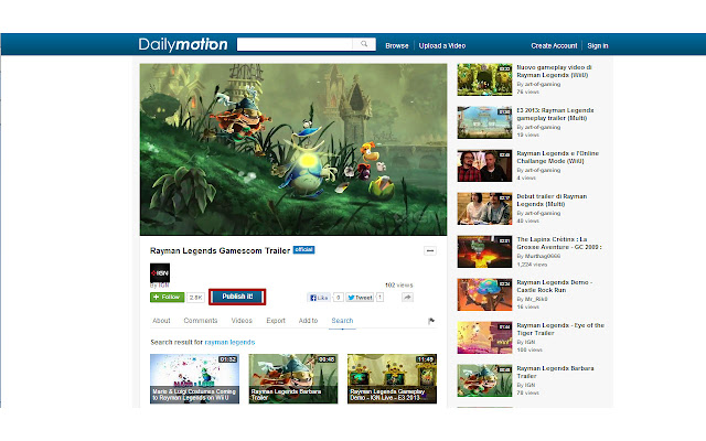 Dailymotion Publish it!