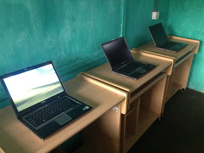 Photo: Dell Laptops, donated by Swarthmore ITS