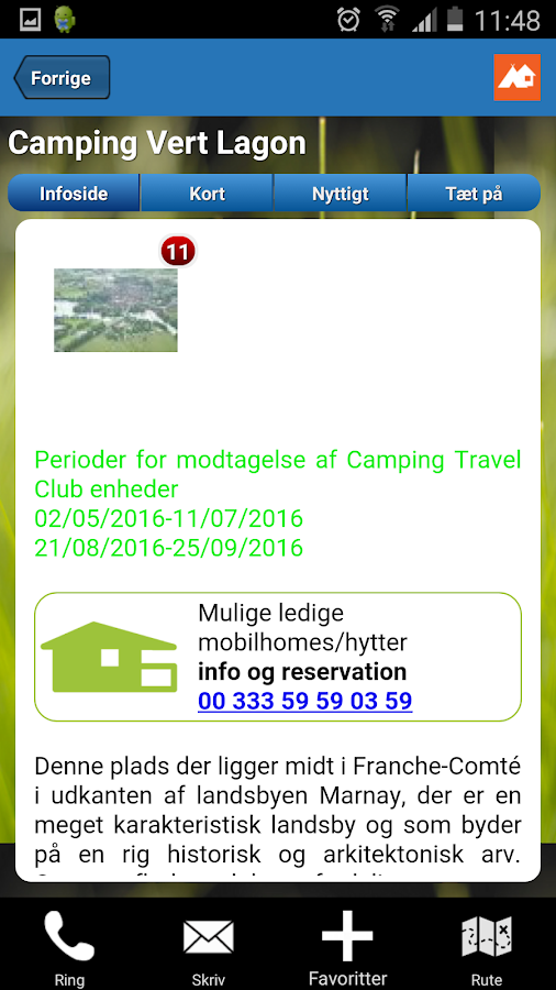 Camping Travel Club guiden- screenshot