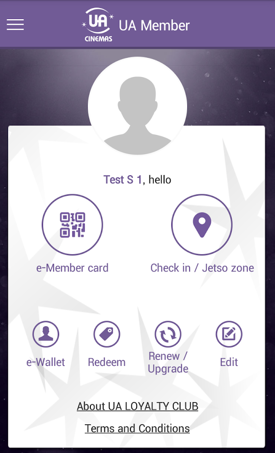 UA Cinemas – Mobile Ticketing- screenshot