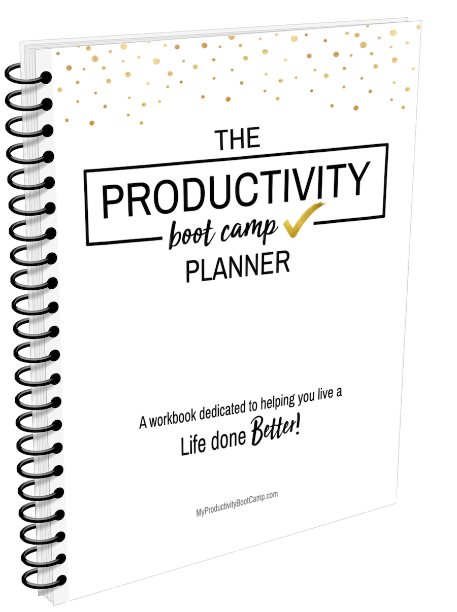productivity work book, productivity planner, funcheaporfree.com, productivity Boot Camp, jordan Page, funcheaporfree.com, budgetbootcamp.com, fun cheap or free, jordanfpage,