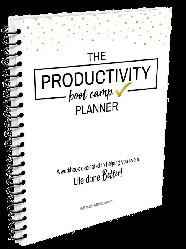 productivity work book, productivity planner, funcheaporfree.com, productivity Boot Camp, jordan Page, funcheaporfree.com, budgetbootcamp.com, fun cheap or free, jordanfpage,