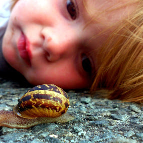 by Yvette O Beirne - Instagram & Mobile Android ( girl, baby, snail )