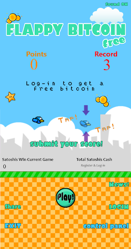 Flappy Bitcoin Free - First Bitcoin Game 3.6.0.0 screenshots 1