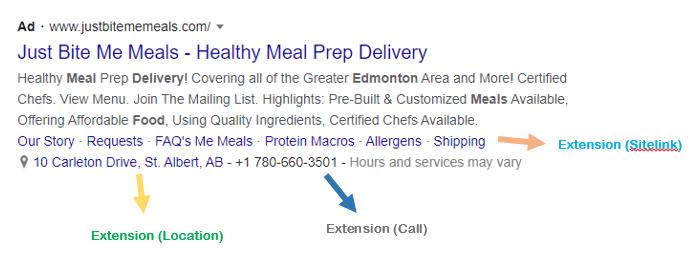 Google Ads: Search Ad - Restaurants