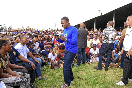 Shepherd Bushiri, seen here preaching, is out on bail after being charged with, among others, fraud.