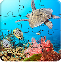 Fishes LWP + Games Puzzle icon