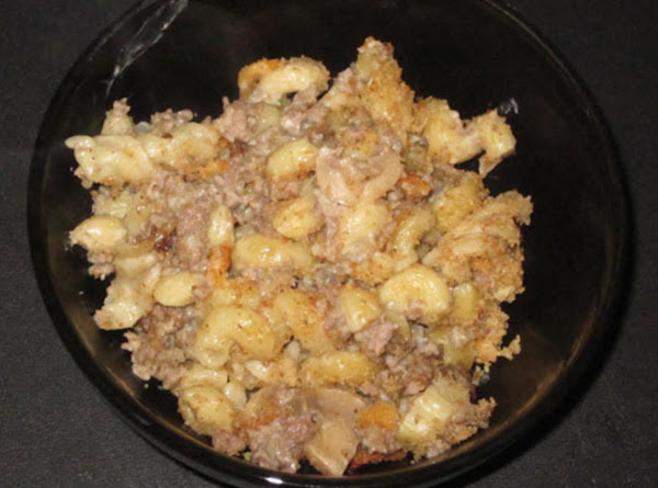 Beef And Mushroom Pasta Bake Recipe