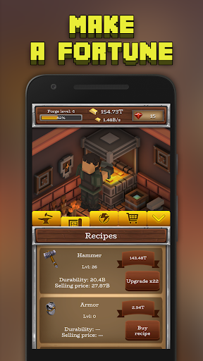 ForgeCraft - Idle Tycoon. Crafting Business Game. ss2