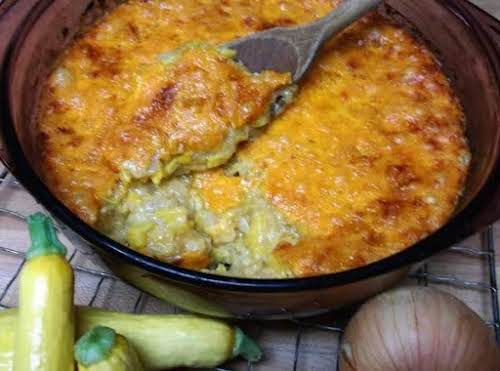 """Cheesy Squash Casserole """"The creation of this recipe began, many years ago,..."""