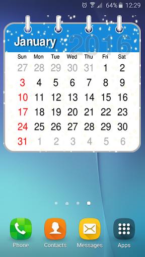 2016年年曆 插件