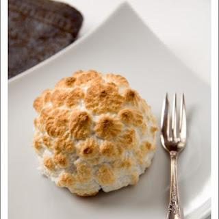 Baked Alaska with Blueberry-Ricotta ice-cream
