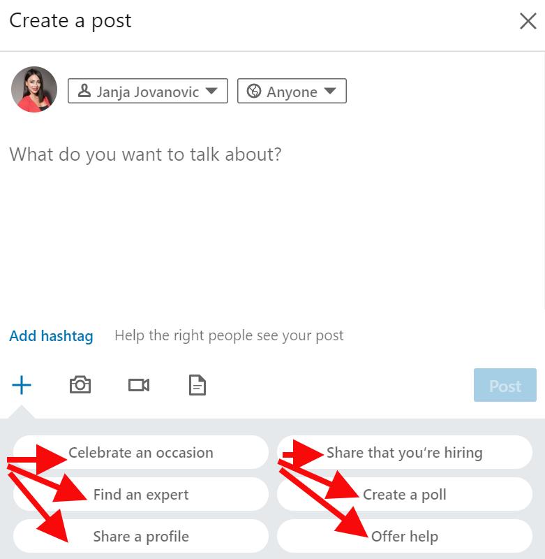 Linkedin nove opcije