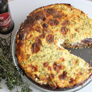 Savoury Cheesecake with Balsamic Red Onions.