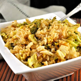 Fried Rice with Savoy Cabbage.