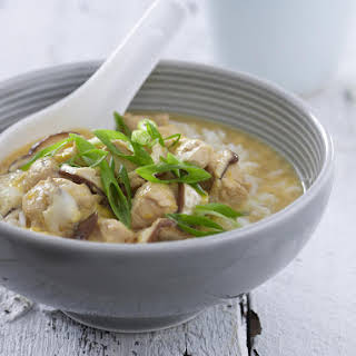 Japanese Chicken and Mushrooms with Rice.
