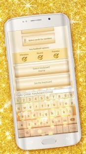 Gold Glitter Keyboard Emoji - náhled