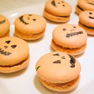 Milk Chocolate Apricot Macarons
