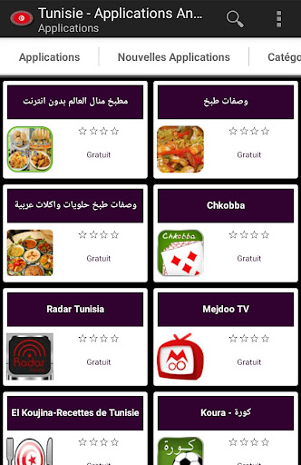 Applications tunisiennes