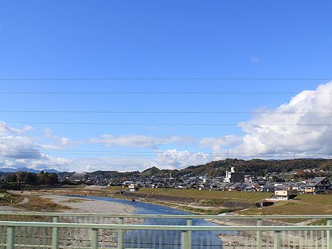 奈良交通「八木新宮線」 ・960 吉野川の橋を通過
