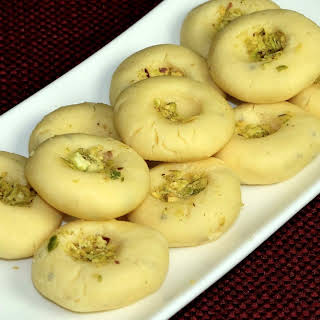 Kesar Peda (Indian Milk Dessert).