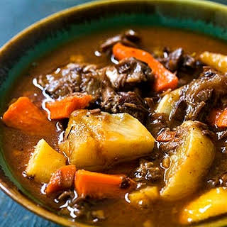 Lamb Shank Stew with Root Vegetables.