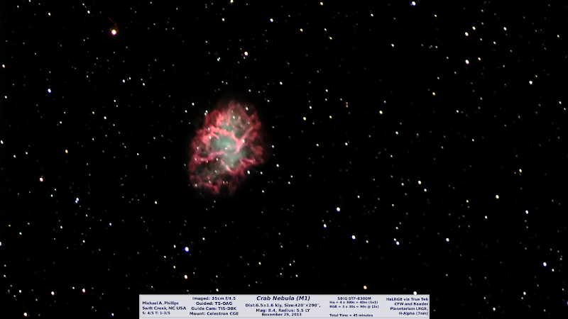 Photo: This version of the Crab Nebula came out nicely. I'm quite happy with this shot even though it was not much time.  In about 4 attempts prior I get nothing but a smudge.  Hydrogen-Alpha is where it's AT!