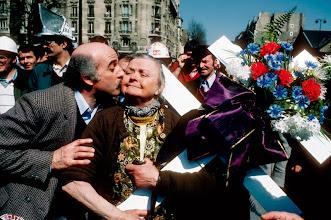 Foto: Frankreich, Paris, Stahlarbeiterdemonstration, 1978 (France, Paris, steel workers demonstration, 1978)  © Eckhard Supp