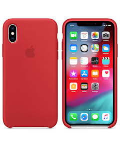 Apple iPhone X Silicone Case Red Rasberry