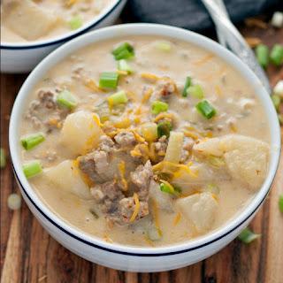 Cheesy Italian Sausage Potato Chowder