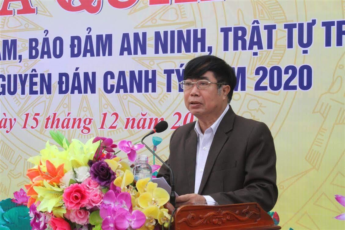 Đồng chí Đinh Xuân Quế, Chủ tịch UBND huyện Nam Đàn phát biểu