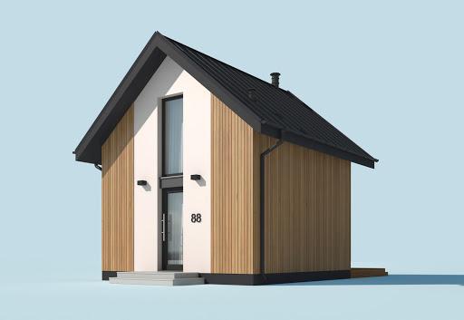 projekt Lido 3 A dom letniskowy na zgłoszenie do 35m2