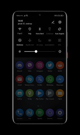 Screenshot for Black EMUI 9 Theme for Huawei [ Dark EMUI ] in Hong Kong Play Store