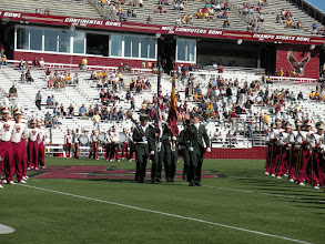 Photo: September 11 football game and oath ceremony